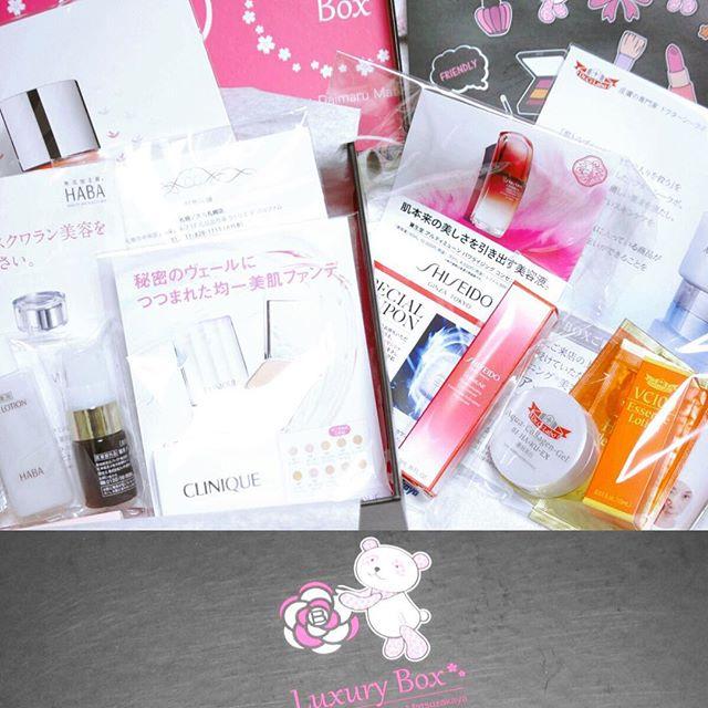先月予約した『Luxury Box』が到着しました!.全部で6ブランド分のアイテムが入っていました!.#luxurybox #bloombox